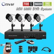 TEATE vigilância 8ch 960 h sistema de CCTV DVR HVR NVR para IP 700tvl câmera de segurança kit com HDMI 3g WIFI onvif 2.0 CK-016