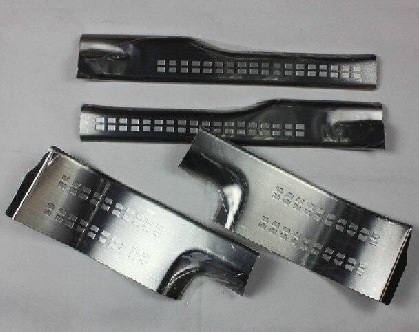Pour Mitsubishi Outlander Samurai 2013-2018, garniture de plaque de seuil de seuil de porte intérieure latérale en acier inoxydable de haute qualité 4 pièces/ensemble