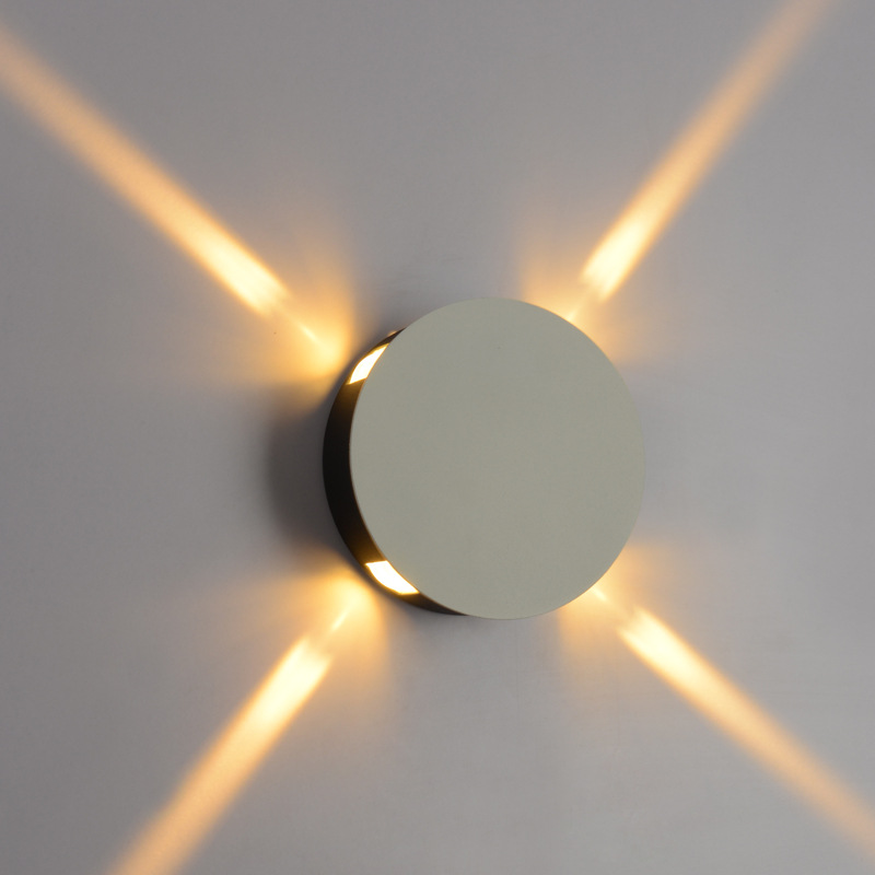 Aliexpress.com : Buy Round Style 4 Narrow Beam Indoor Wall Lamp Wall Light  AC90~260V LED Architectural Facade Lighting 4 Emission LED Wall Sconce From  ...