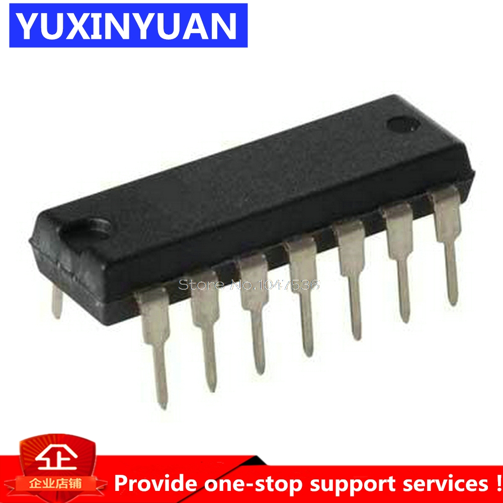 YUXINYUAN 10pcs/lot CD4026 CD4026BE 4026 IC CMOS Counters Decade/Divider DIP-16 image