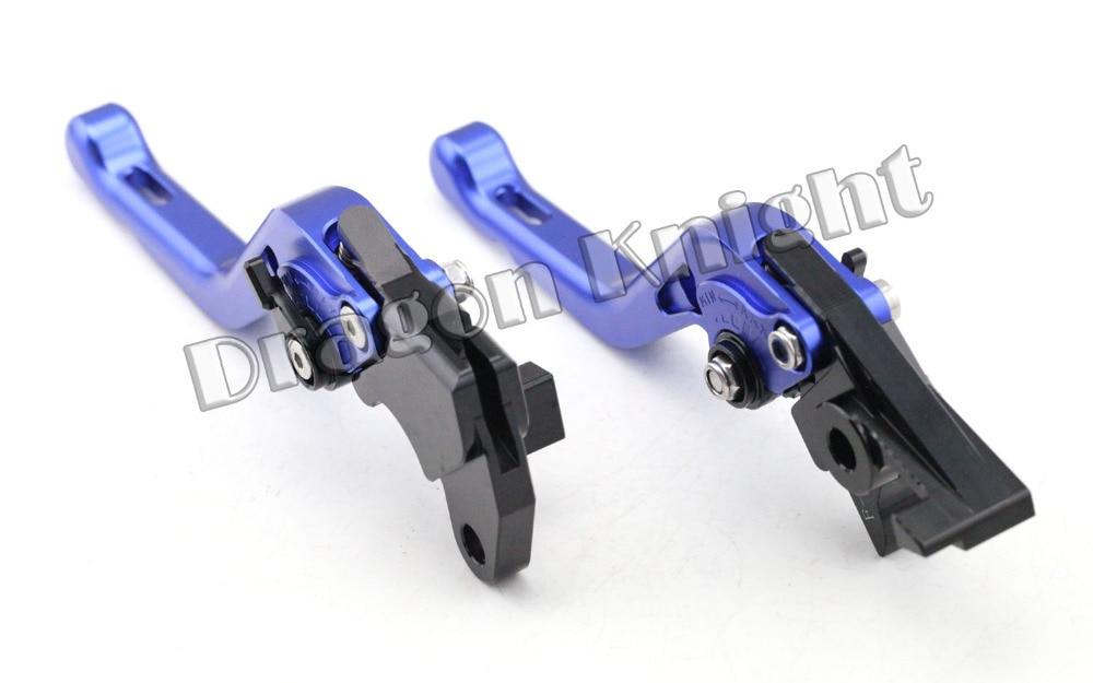 Motocycle Accessories For SUZUKI DL 650/V-STROM 2012-2015 Short Brake Clutch Levers Blue adjustable short straight clutch brake levers for suzuki gsx 650 f gsf 650 bandit n s dl 1000 v strom 2002 2015