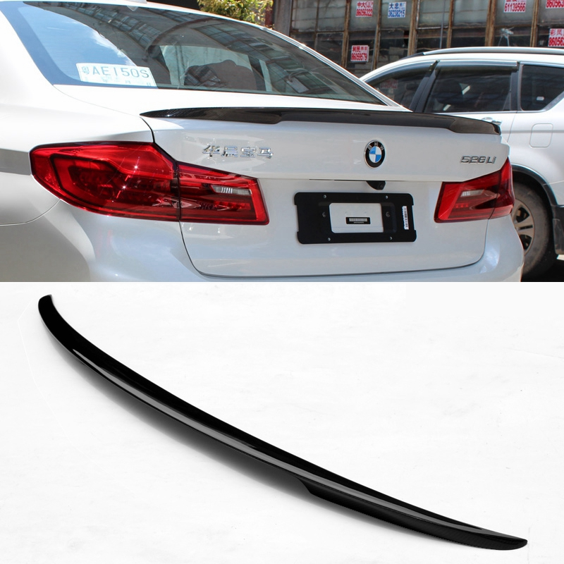 MONTFORD Auto Carbon Fiber M5 Rear Spoiler Tail Trunk Boot Wing Cover Car Accessories For BMW 5 Series G30 Spoiler 2017 Years car rear trunk security shield cargo cover for honda fit jazz 2014 2015 2016 2017 high qualit black beige auto accessories