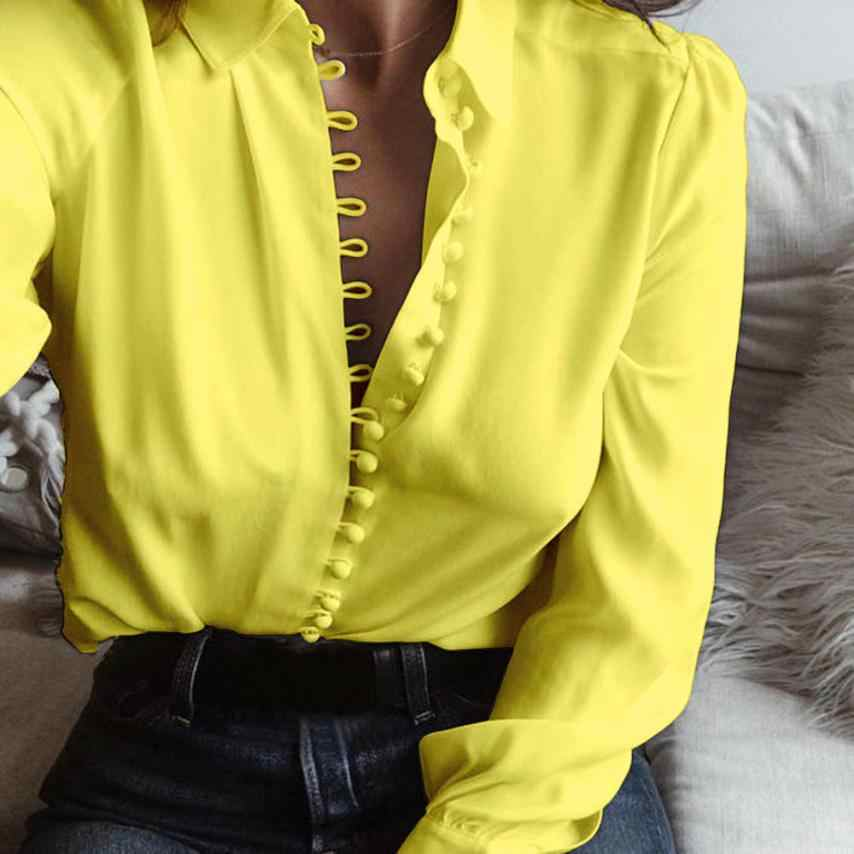 FREE OSTRICH Blouses 2018 Chiffon Blouse Fashion Solid Long Sleeves Shirt High Quality Women Clothes Lady Shirt Dropshipping