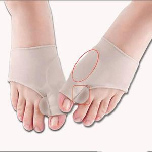 Image 4 - 1Pair Silicone Pad Hallux Valgus Orthotic Correction Sleeves Foot Care Bunion Big Toe Separators Corrector Sleeves