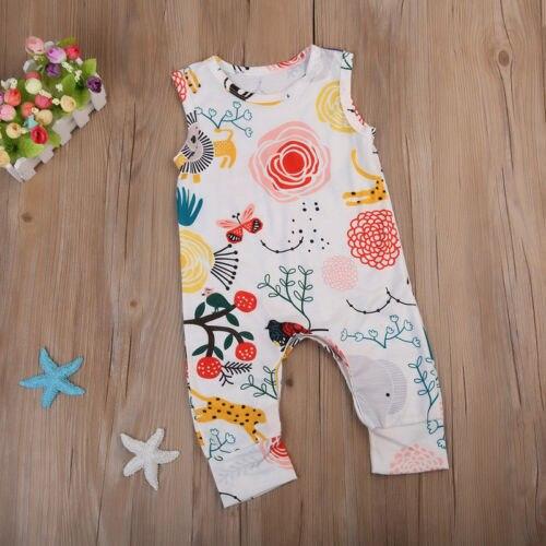Da criança Do Bebê Dos Miúdos Da Menina do Menino Macacão Roupas Bonito Macacão Sunsuit Romper Outfits