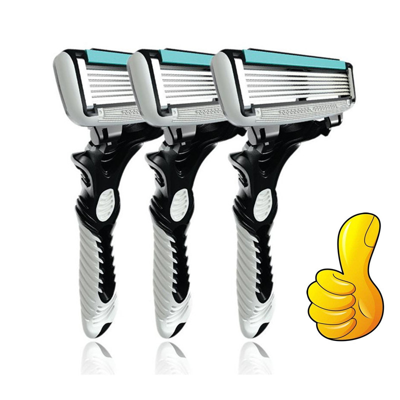 3Pcs/Set Original High Quality Razors For Shaving 6 Layers Razor Blades Sharp Safety Shave Standard For Russian Beard Face Care