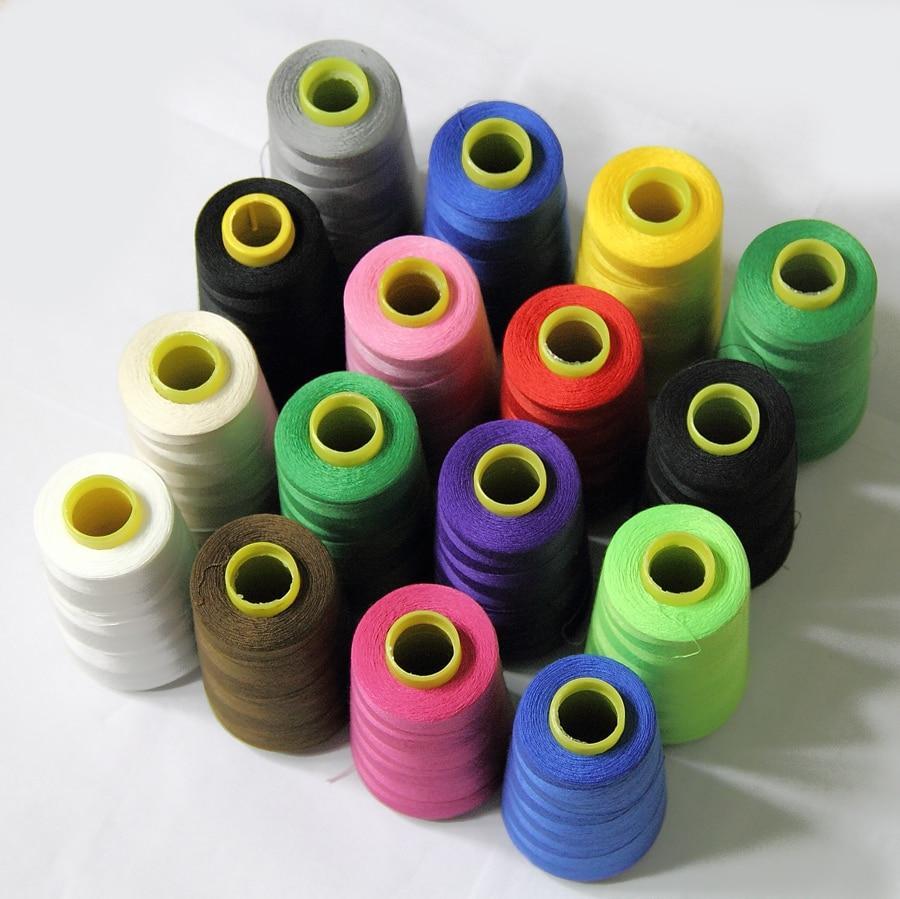 จัดส่งฟรี multicolor สายจักรเย็บผ้า terylene สายโพลีเอสเตอร์ชุดจักรเย็บผ้าด้าย oandk