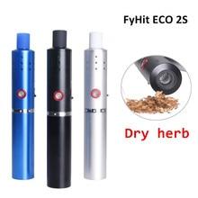 Новая оригинальная сухая трава FyHit ECO 2S Испаритель 2200mah Керамический сердечник Регулирование температуры Airflow Vape Pen Herbal e cigarette Kit