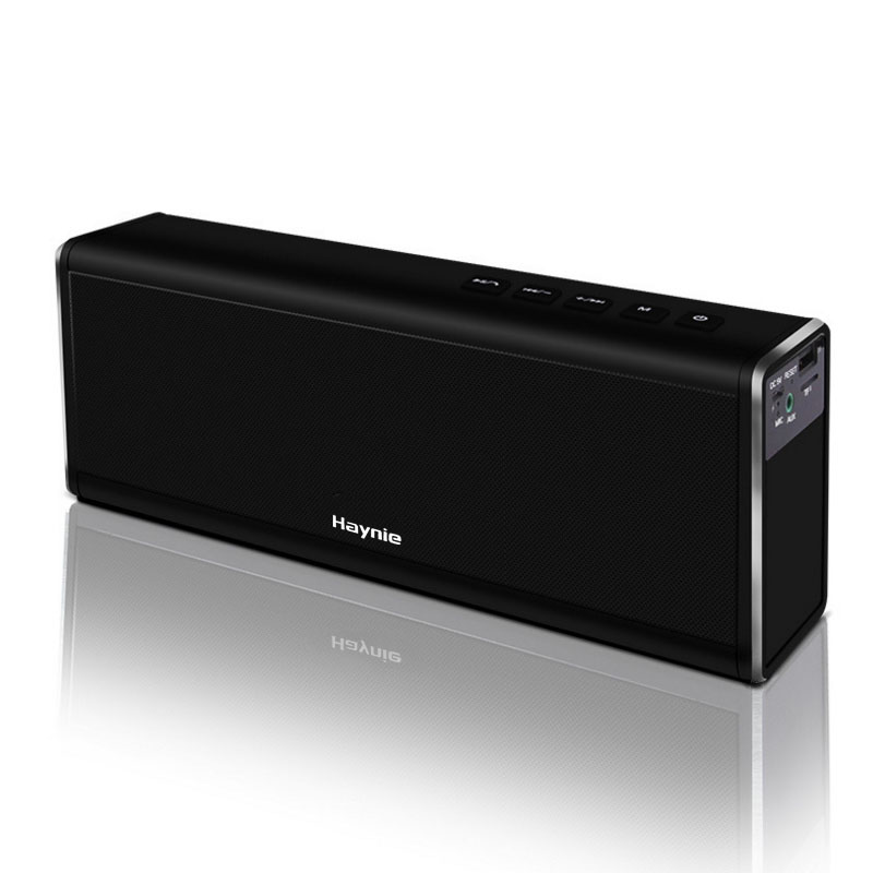 HAYNIE Super Bass 20W Bluetooth Speaker Power Bank Powerful Portable Computer Wireless Metal Speaker VS Piple S5 Bluedio BS-3 new lewinner l099 wireless bluetooth speaker portable speaker 20w with super bass for phone computer mp3 support aux eq