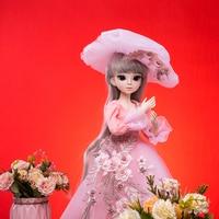Princess anna 1/3 60CM BJD SD Dolls New Arrival With Dress Wigs Shose Hat Makeup Beautiful Dream Girls Toys