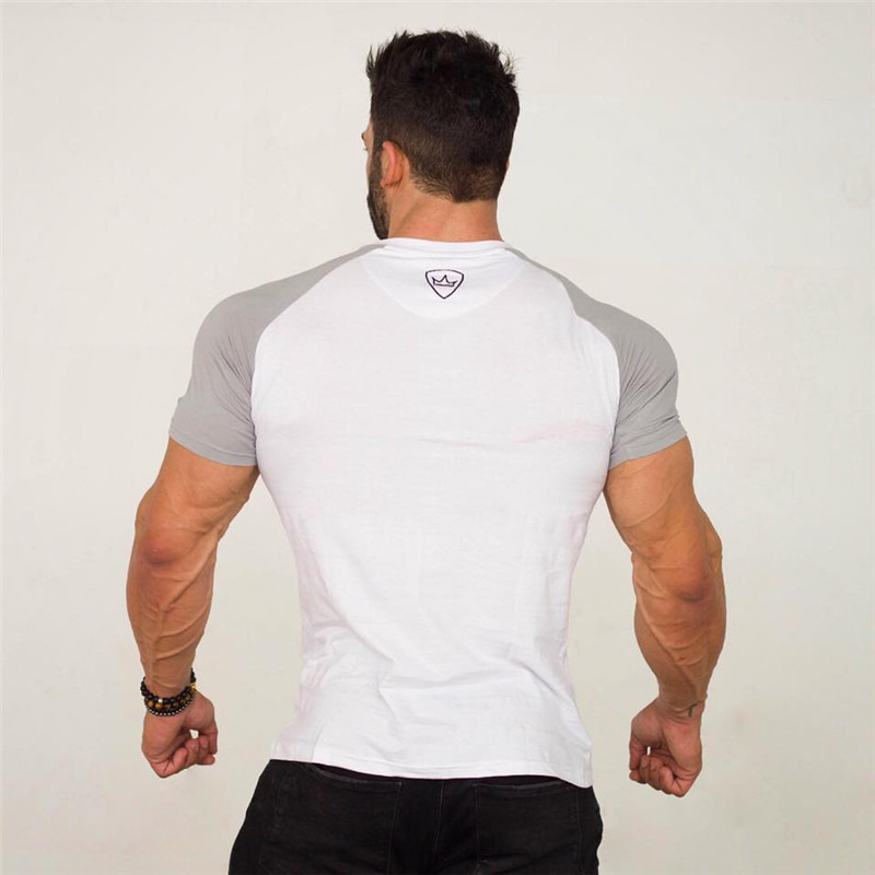 HTB1CTPmpY5YBuNjSspoq6zeNFXar 2019 new gym breathable men's muscle fitness short sleeve training bodybuilding fitness cotton sportswear T shirt clothes