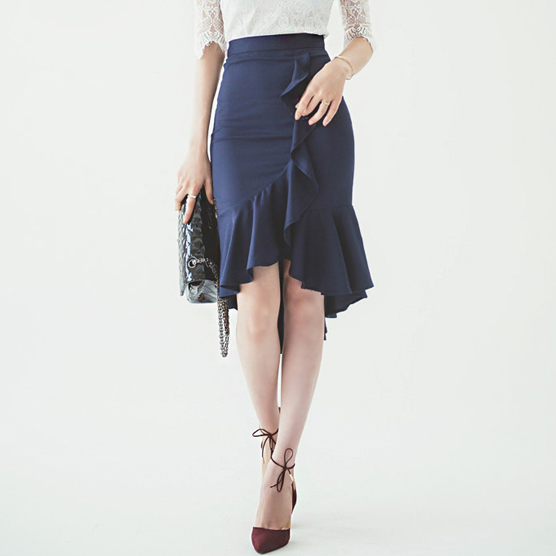 2015 Women Summer Style 6XL 7XL Plus Size Peplum Skirt Midi ...