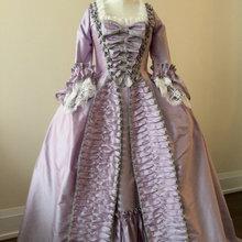 На заказ Рококо Мария Антуанетта Платье платье Рококо 18 век рюшами одежда