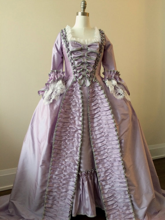 CUSTOM Rococo Marie Antoinette Gown Dress Rococo 18th Century Ruffle Gown Clothings