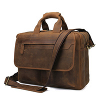 Business Men's Briefcase Tote men messenger bag travel laptop bag for men document Leather briefcase male Genuine leather Bag