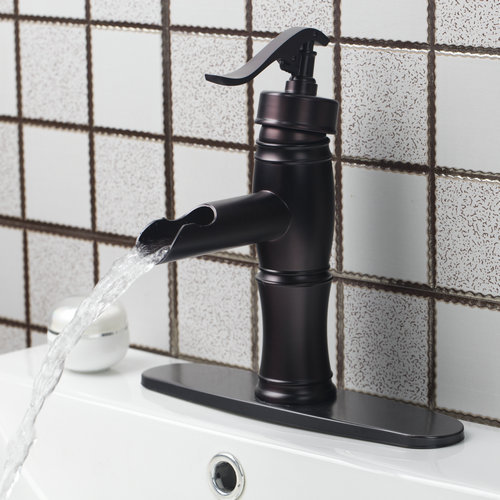 Single Handle Waterfall Bathroom Oil Rubbed Bronze +Cover Plate +Hose 97019-15723 Deck Mounted Basin Torneira Faucets,Mixer Tap