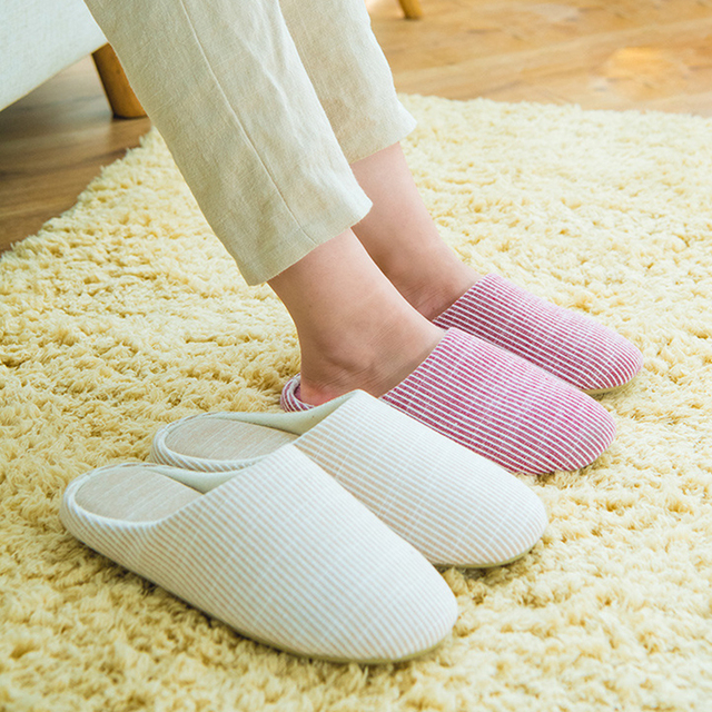 ebed7a1f2939 Japanese cotton pantufa couples slippers women shoes indoor simple silent  ladies chinelo house slippers home shoes