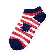 Stock 1 Pair Fashion Casual Cotton Socks Unisex Stripe Cotton Skateboard Sock Comfortable Socks 2018 Nov