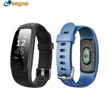 Leegoal ID107 плюс HR монитор сердечного ритма Смарт Браслет дистанционного управления браслет здоровье фитнес трекер для iOS и Android