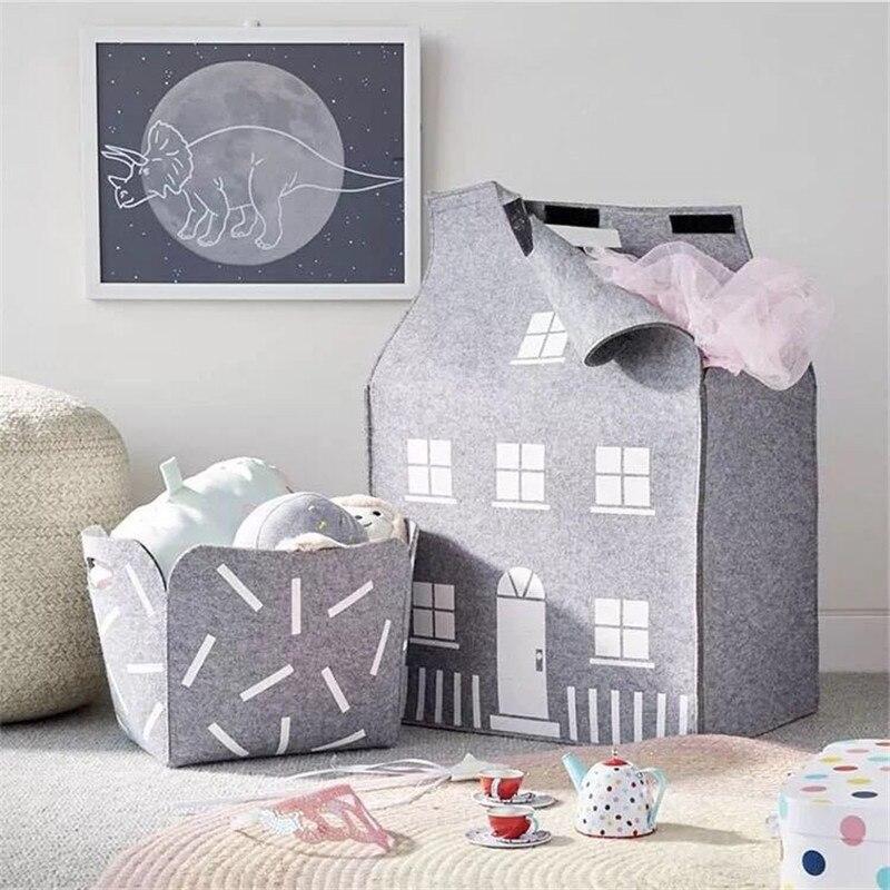Большая вместительная сумка для хранения детских игрушек из фетра, сумка для сбора игрушек