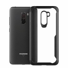 For Xiaomi Pocophone F1 Case Soft Silicone+transparent Pc Armor Protective Back Cover Case For Xiaomi Pocophone F1 Shell for xiaomi pocophone f1 case slim skin matte cover for xiaomi f1 pocophone f1 case xiomi hard frosted cover xiaomi poco f1 case