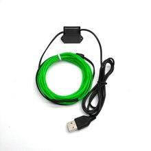 USB Neon Light Dance Party Car Decor Light Neon LED lamp Flexible EL Wire Rope Tube Waterproof 2.3MM LED Strip