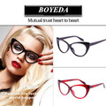 2017 Fashion Cat Eye Glasses Frames Brand Designer Eyeglasses Women Optical Glasses of Cat's Eye Female Spectacle Frame oculos