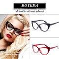 2017 de La Moda Del Ojo de Gato Marcos de Los Vidrios Gafas de Diseño de Marca de Las Mujeres Vidrios Ópticos oculos Montura de gafas de Ojo de Gato Femenino