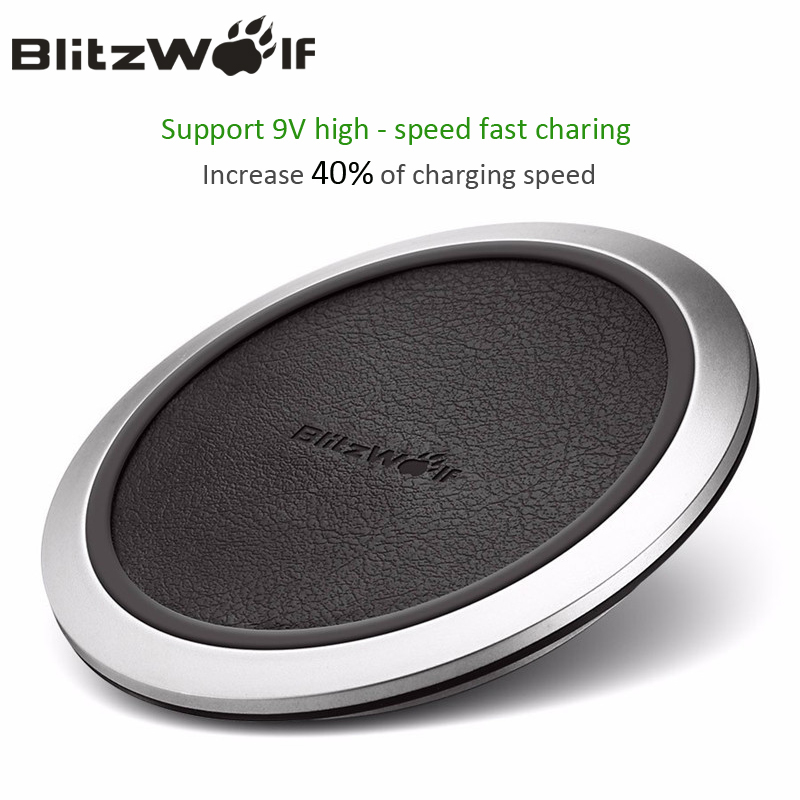 BlitzWolf Qi Sans Fil Chargeur De Bureau Mobile Téléphone Chargeur 9 V Rapide de charge Pad Pour Samsung S8 + S7 S7 Bord Téléphones Intelligents chargeurs