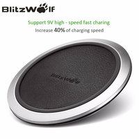 BlitzWolf BW FWC1 Fast Charge Qi Wireless Mobile Phone Charger Charging Pad For Samsung S7 S6