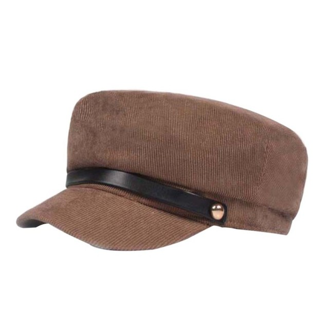 Winter Hats Women Winter Cap Wool Hat Female Button Baseball Cap Sun Visor Hat Black Fall Hat
