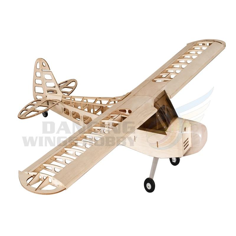 RC เครื่องบิน Balsa ไม้ J3 เครื่องบินรุ่นเครื่องบิน 1.2 M Wingspan Aeromodelismo Woodines รุ่นเครื่องบินอาคารชุด-ใน เครื่องบิน RC จาก ของเล่นและงานอดิเรก บน   1