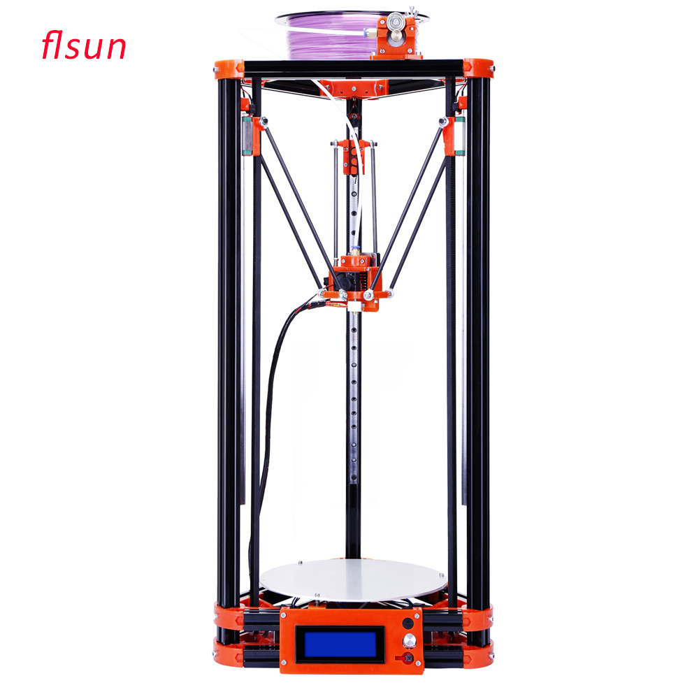 Linear Guide DIY Metal 3D Printer Large Printing Size Kossel 3d Printer Kit With One Roll Filament SD Card free dhl shipping 3d printer linear guide diy kit large printing speed 20 180mm s 3d metal printer support auto leveling