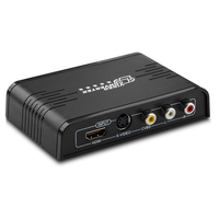 New CVBS/S Video to HDMI Converter Composite 3 RCA video AV S video CVBS to HDMI Converter S video R/L Audio to HDMI 720P / 1080