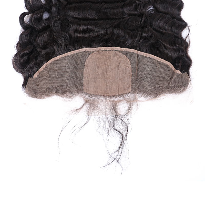 Loose Wave Silk Base Closure Brazilian Hair 13X4 Lace Frontal Closures With Baby Hair Natural Hairline Pre Plucked Remy Prosa