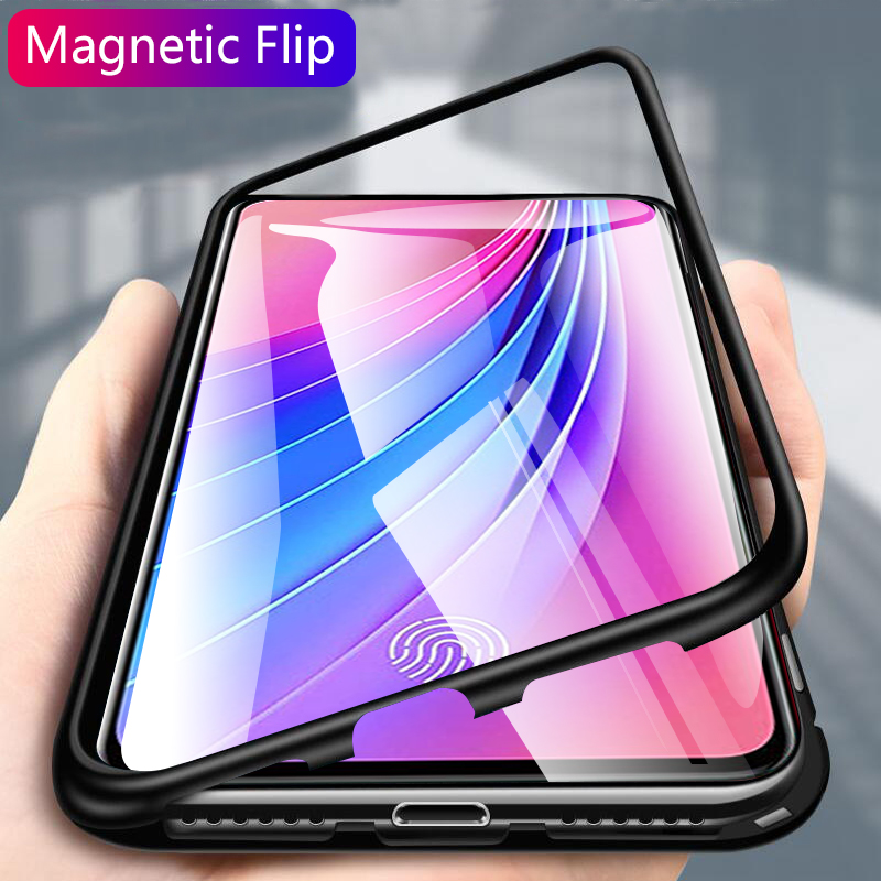 Us 7 89 25 Off Magnetic Flip Case For Vivo V15 Pro Case Clear Tempered Glass Metal Frame Back Cover For Vivo V15 S1 Protective Case Shell Capa In