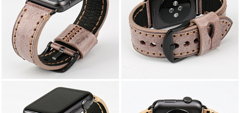 Bracelet Italien Apple Watch Cuir