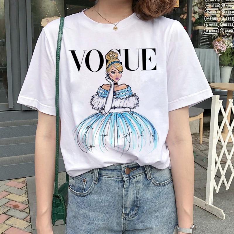 New Graphic Vogue T Shirt Women Fashion Harajuku Ullzang Cartoon T-shirt Funny Printed 90s Tshirt Korean Style Top Tees Female 14