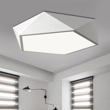Modernas Luzes De Teto Led Preto/Branco Plafon Levou Dispositivo Elétrico Da Lâmpada Do Teto Para Sala De Estar Quarto Casa De Iluminação Luminaria Teto