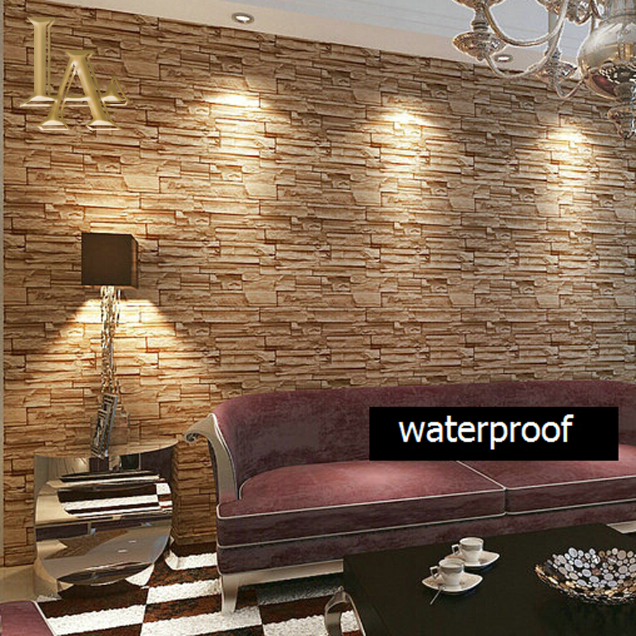 Grey brick wallpaper promotion shop for promotional grey for Grey brick wallpaper bedroom