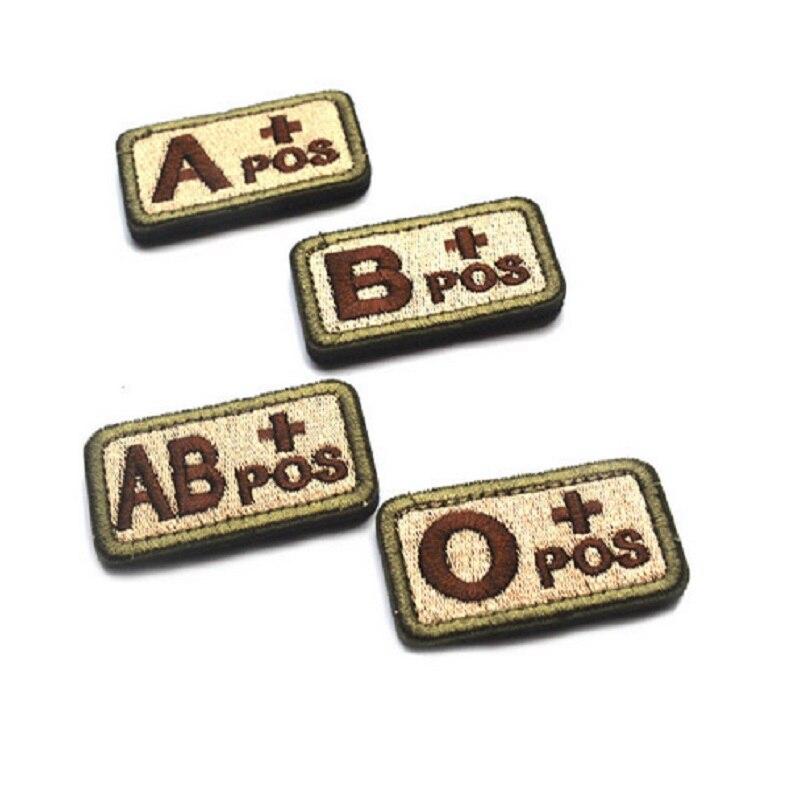 3 ventilateurs darmée de brassard de broderie chapitre didentification en plein air type sanguin tactique A ,B ,O ,+