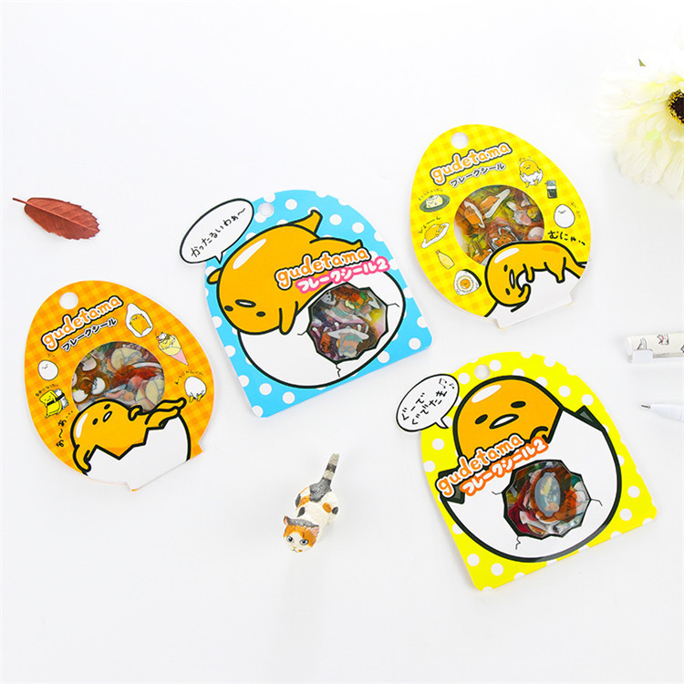 60 PCS/Pack Gudetama Lazy Egg Sealing Stickers Diary Label Stickers Pack Decorative Scrapbooking PVC DIY Stickers 18mm round lead free packing rohs label stickers 15 x 50 pack