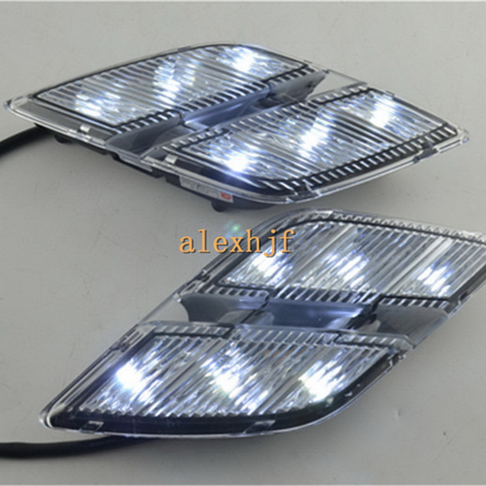 July King LED Daytime Running Lights DRL, LED Front Bumper light, LED Fog Lamp case for Peugeot 301 2013~2016 1:1, free shipping july king led daytime running lights drl case for honda crv cr v 2015 2016 led front bumper drl 1 1 replacement