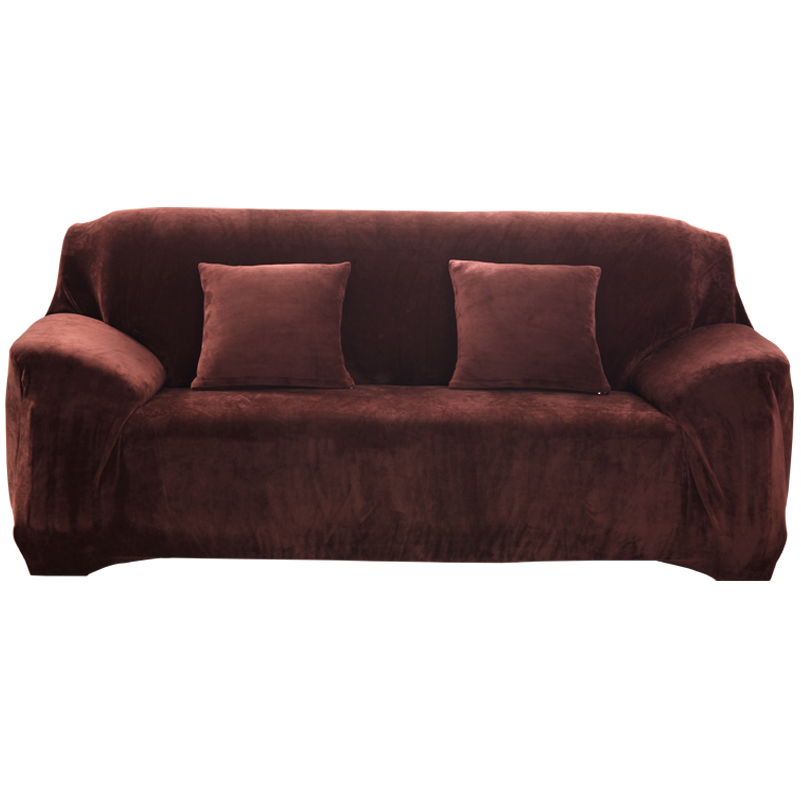 Simpe Solid Sofa Covers Sectional Sofa Cases Stretch Elastic
