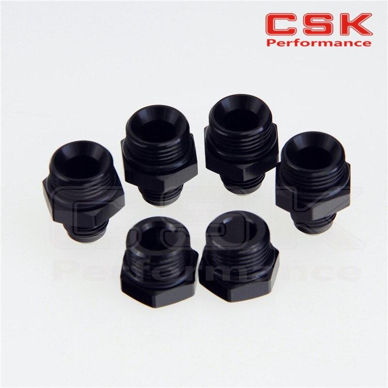 <font><b>2</b></font> <font><b>x</b></font> Port Plugs& 4 <font><b>x</b></font> AN6 Fittings for Fuel Surge Tank Swirl Pot System BLACK