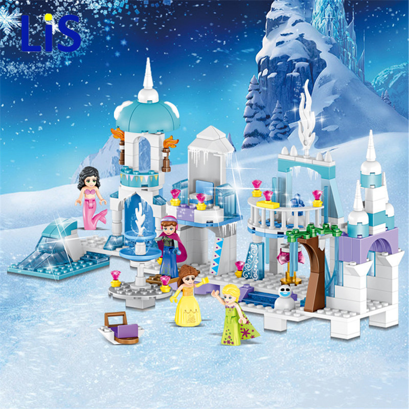 37024 Snow Queen Mermaid Beauty Princess Ice Castle Building Bricks Blocks Sets Toy Compatible with  Princess Girls37024 Snow Queen Mermaid Beauty Princess Ice Castle Building Bricks Blocks Sets Toy Compatible with  Princess Girls