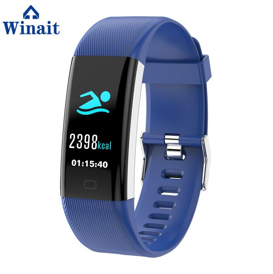 Winait F07 ip67 bracelet de sport étanche, affichage couleur/fréquence cardiaque/pression artérielle/oxygène sang numérique intelligent poignet bande fitness - 3