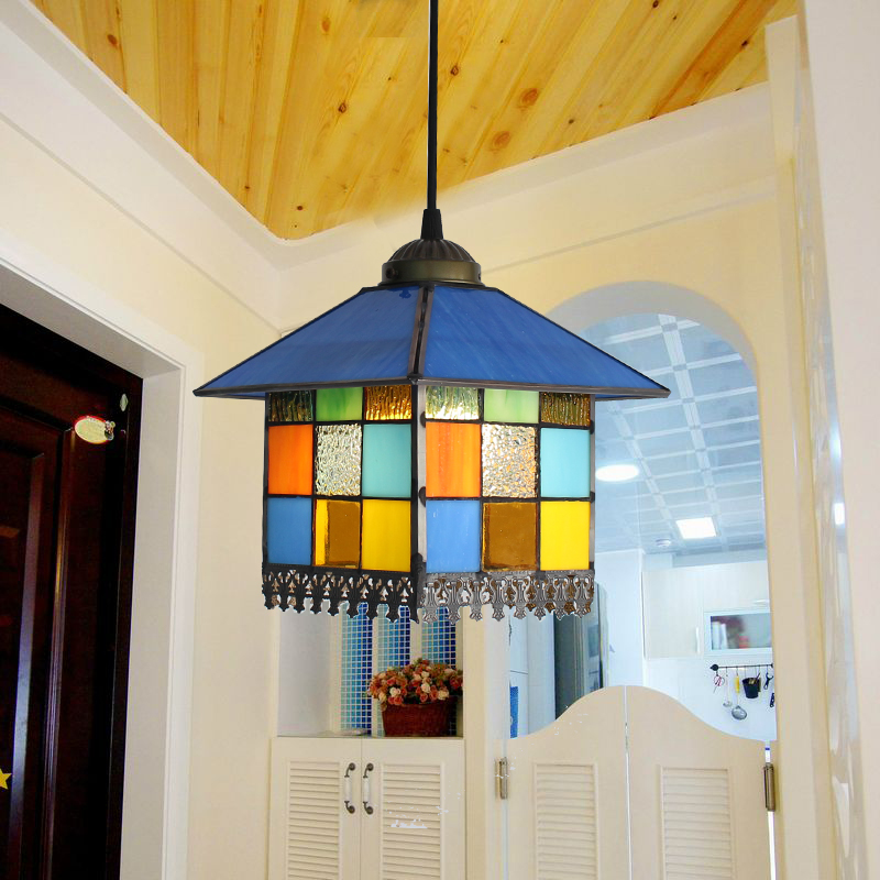 Tiffany hall hallway entrance small Pendant Lights simple European classical sink mirror front pendant lamps LU804106 entrance hall creative tiffany the restaurant in front of the hotel pendant lights cafe bar small aisle pendant lamps za