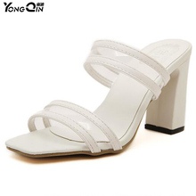 Wild Transparent  Women Slippers  2017 Peep Toe Sexy  Women Shoes Comfortable High Heels Fashion Ladies Sandals Shoes size 35-40