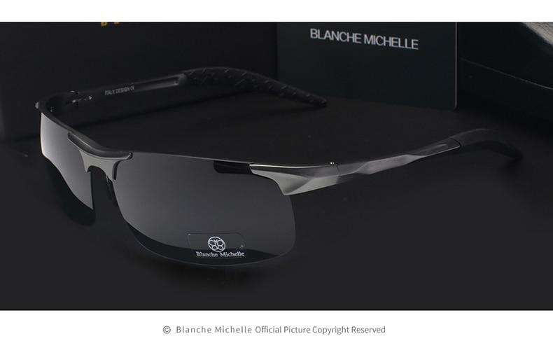 High Quality Ultra-light Aluminum Magnesium Sport Sunglasses Polarized Men UV400 Rectangle Gold Outdoor Driving Sun Glasses 8
